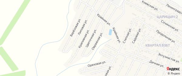 Цветочная улица на карте садового некоммерческого товарищества Родника с номерами домов