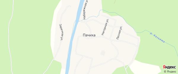 Карта поселка Пачихи в Архангельской области с улицами и номерами домов