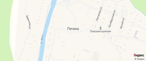Октябрьская улица на карте поселка Пачихи с номерами домов