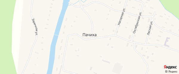 Заречная улица на карте поселка Пачихи с номерами домов