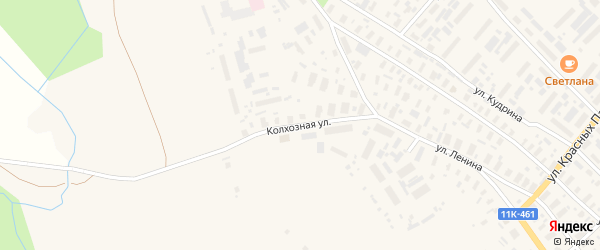 Колхозная улица на карте села Карпогор с номерами домов