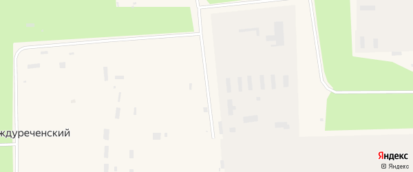 Центральная улица на карте Междуреченского поселка с номерами домов