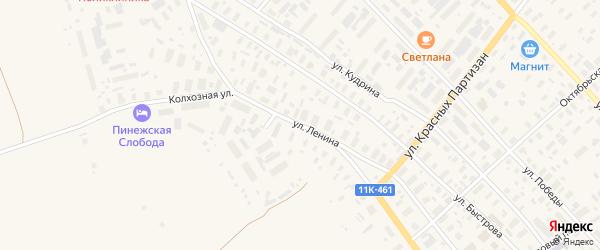 Улица Ленина на карте села Карпогор с номерами домов