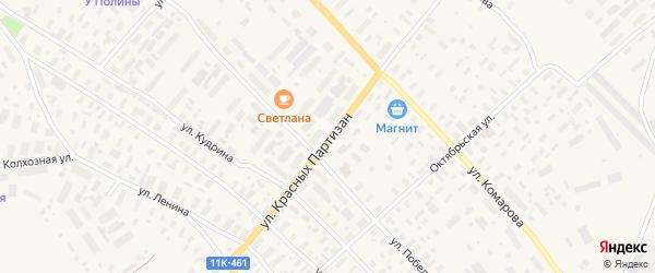 Улица Красных Партизан на карте села Карпогор с номерами домов