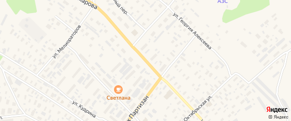 Улица Комарова на карте села Карпогор с номерами домов