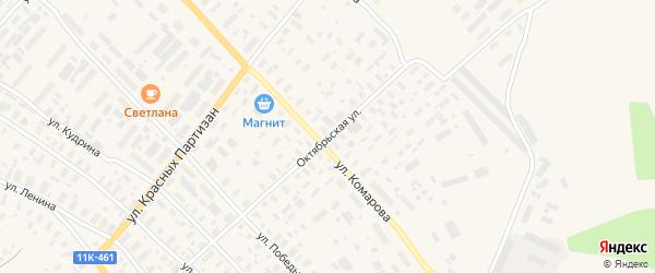 Октябрьская улица на карте села Карпогор с номерами домов