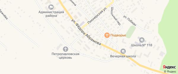 Улица Федора Абрамова на карте села Карпогор с номерами домов