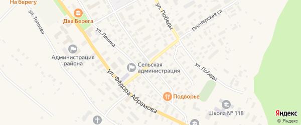 Пионерская улица на карте села Карпогор с номерами домов