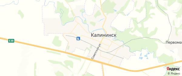 Карта Калининска с районами, улицами и номерами домов
