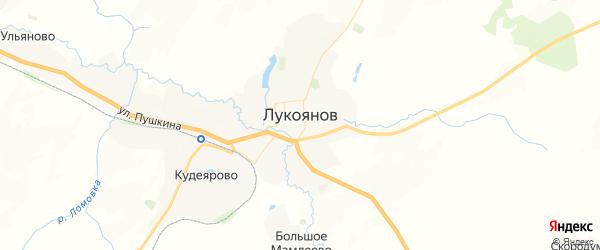 Карта Лукоянова с районами, улицами и номерами домов