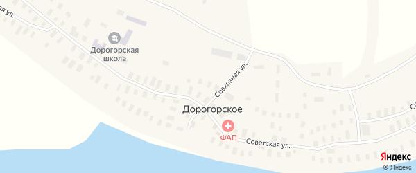 Советская улица на карте Дорогорского села с номерами домов