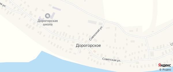 Совхозная улица на карте Дорогорского села с номерами домов