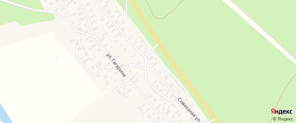 Совхозная улица на карте деревни Ваймуши с номерами домов
