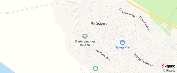 Заречная улица на карте деревни Ваймуши с номерами домов