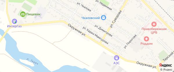 Окружная улица на карте Беслана с номерами домов