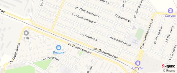 Улица Ахсарова на карте Беслана с номерами домов