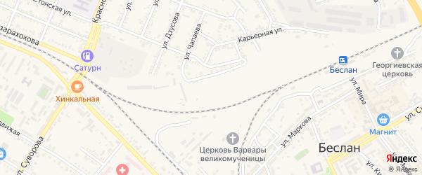 Переулок Тургенева на карте Беслана с номерами домов