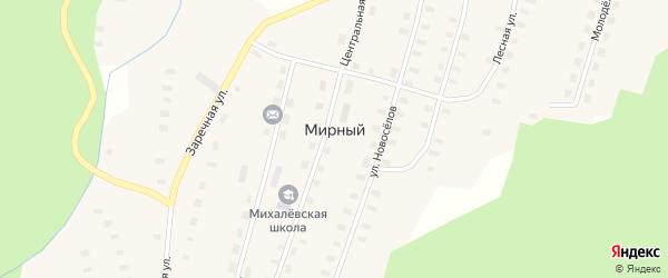Первомайская улица на карте Мирного поселка с номерами домов
