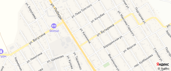 Улица Калинина на карте Беслана с номерами домов
