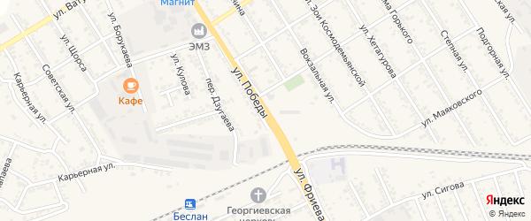 Улица Победы на карте Беслана с номерами домов