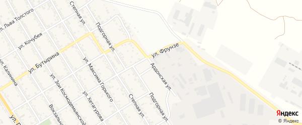 Ардонская улица на карте Беслана с номерами домов
