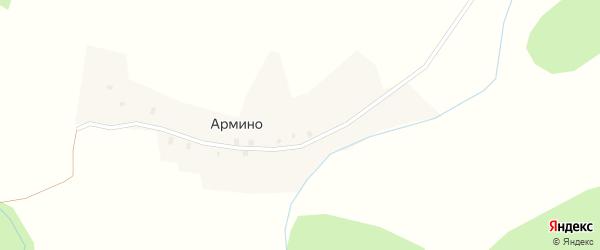 Маяковская улица на карте деревни Армино с номерами домов