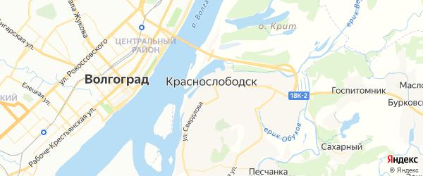 Карта Краснослободска с районами, улицами и номерами домов