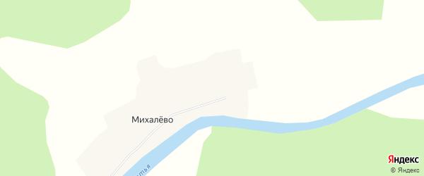 Карта деревни Михалево в Архангельской области с улицами и номерами домов