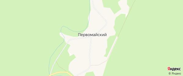 Карта Первомайского поселка в Архангельской области с улицами и номерами домов