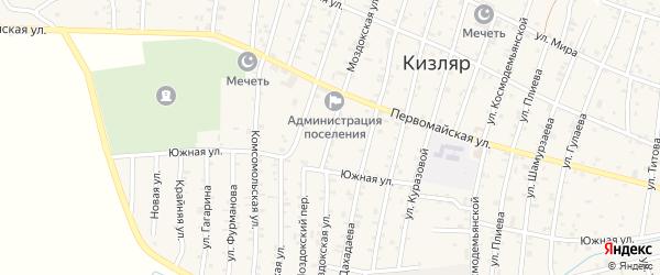 Моздокская улица на карте Кизляра с номерами домов