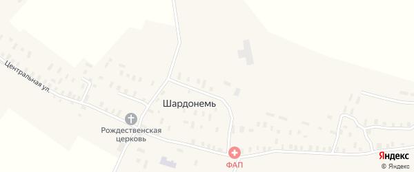Центральная улица на карте деревни Шардонеми с номерами домов