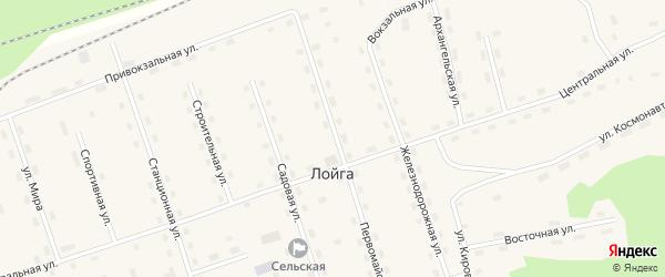 Привокзальная улица на карте поселка Лойги с номерами домов