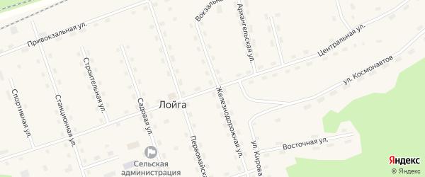 Центральная улица на карте поселка Сенгоса с номерами домов