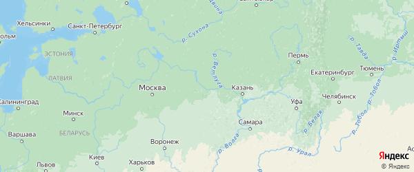 Карта Нижегородской области с городами и районами