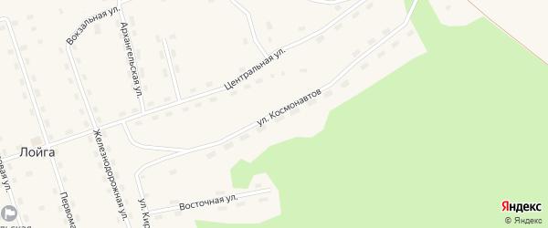 Улица Космонавтов на карте поселка Лойги с номерами домов