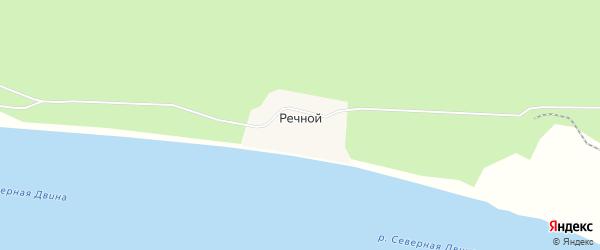 Карта Речного поселка в Архангельской области с улицами и номерами домов