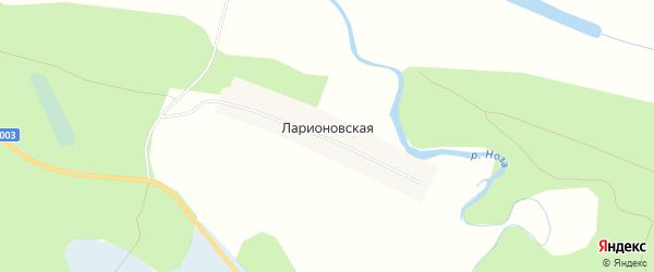Карта Ларионовской деревни в Архангельской области с улицами и номерами домов