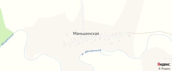 Первомайская улица на карте Маньшинской деревни с номерами домов