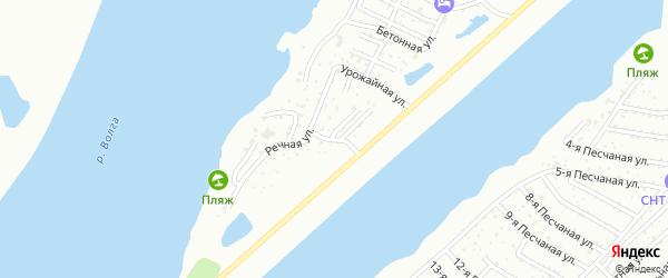 Солнечная улица на карте садового некоммерческого товарищества Строителя с номерами домов
