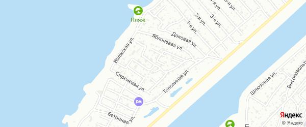 Цветочная улица на карте садового некоммерческого товарищества Строителя с номерами домов