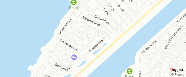 Виноградная улица на карте Строителя СНТ с номерами домов