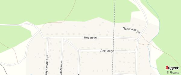 Новая улица на карте поселка Зеленника с номерами домов