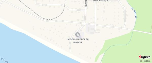 Набережная улица на карте поселка Зеленника с номерами домов