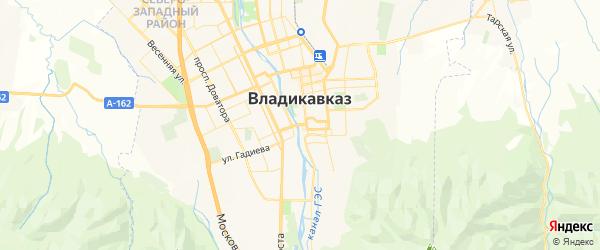 Карта Владикавказа с районами, улицами и номерами домов