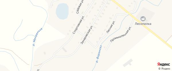 Захаровская улица на карте Алферовской деревни с номерами домов