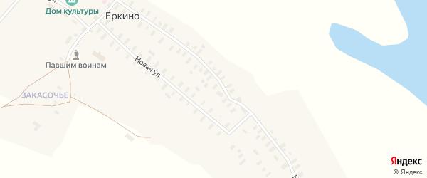 Новая улица на карте деревни Еркино с номерами домов
