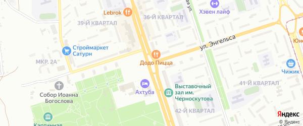 Жемчужный переулок на карте Волжского с номерами домов