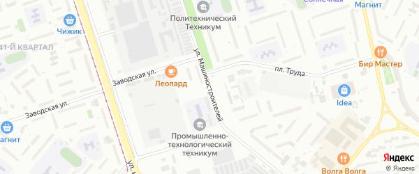 Улица Машиностроителей на карте Волжского с номерами домов