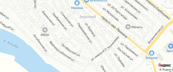 Первомайская улица на карте Волжского с номерами домов