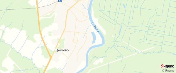 Карта Мантурово с районами, улицами и номерами домов